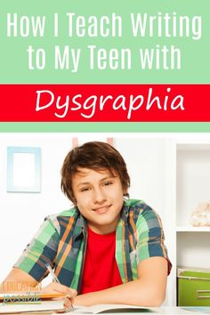 """How I Teach Writing to My Teen With Dysgraphia My teen struggles with writing. Not just """"writers block"""" or trouble figuring what to write about. He has a hard time with the physical act of writing and getting his thoughts on paper. My son has dysgraphia, Teaching Writing, Writing Activities, Teaching Kids, Kids Learning, Homeschool High School, Homeschool Curriculum, Online Homeschooling, Occupational Therapy Activities, What To Write About"""