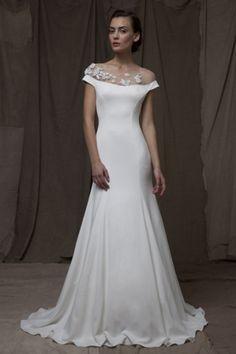 vestido de noiva lela rose 2015 The Valley com tatuagens flores falsas