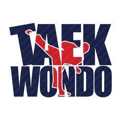 Taekwondo Karate T-Shirt - Custom Design - MA - Martial Arts Shirt - You Choose Colors by SpiritStadium on Etsy
