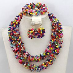 BST Exclusive Multicolored Indian Wedding Crystal Jewelry Set Handmade Nigerian Beaded Jewelry Set BST Jewelry Sets http://www.amazon.com/dp/B0105M24CO/ref=cm_sw_r_pi_dp_zyRJwb1TCFJWM