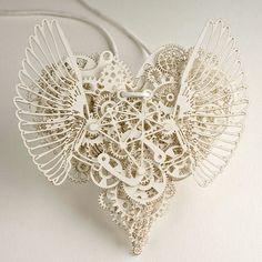 """紙なのか!?素晴らしい造形美。 randomgen: """" theformofbeauty: """" Clockwork Love - Amazing paper cut art made by Tjeb. """" Love this. """""""