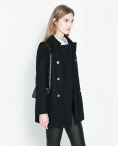 Image 2 of DOUBLE BREASTED WOOLLEN CLOTH COAT from Zara