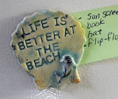 Life Is Better At The Beach by Kat on Etsy