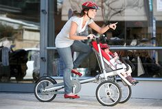 this is pretty cool - it also folds up into just a stroller for when you don't need to bike...who thinks of this stuff?!?! A-mazing
