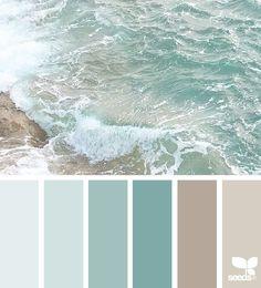 55 ideas for bathroom colors blue sea design seeds Bedroom Paint Colors, Paint Colors For Living Room, Interior Paint Colors, Paint Colors For Home, Bathroom Colors, Beach Paint Colors, Bathroom Ideas, Interior Design Color Schemes, Bathroom Beach