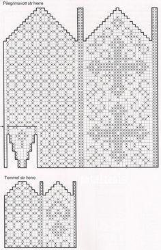 Knitting Charts, Knitting Stitches, Knitting Designs, Knitting Patterns Free, Knitting Projects, Knitting Socks, Knitted Mittens Pattern, Knit Mittens, Mitten Gloves