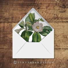 Printable Custom Envelope Liner Template Pattern Floral