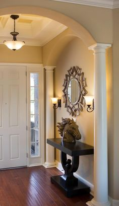 Entryway Wall Decor our rustic foyer table | home ideas | pinterest | foyers, foyer