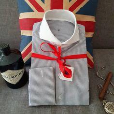 Dress Shirt And Tie, Dress Shirts, Bespoke Shirts, Cutaway Collar, British Style, Uk Summer, Cool Shirts, Shirt Style, Menswear