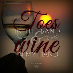 Toes in the sand & wine in my hand Traveling Vineyard, Wine Meme, Wine Quotes, Wine Sayings, Beach Quotes, I Love The Beach, Wine O Clock, In Vino Veritas, My Happy Place