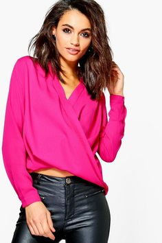 Darcy Draped Long Sleeve Blouse