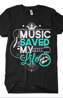 Music Saved My Life T-Shirt - Bryan Stars T-Shirts - Online Store on District Lines - L