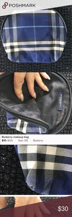 56153378162b Burberry makeup bag This makeup bag is the traditional plaid Burberry print  . It has wear