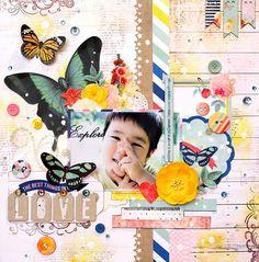 Colorful Days: BoBunny DT work<Sweet Lifeシリーズを使ったレイアウト>