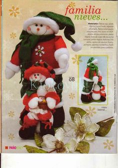 Archivo de álbumes Christmas Stockings, Christmas Ornaments, Creando Ideas, Holiday Decor, Home Decor, Tela, Frost, Snowflakes, Pom Poms