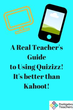 One of my favorite Prealgebra activities for middle school math students is using Quizizz! It incorporates technology, is really fun, and I like it better than Kahoot! Use Quizizz in your Prealgebra classroom instead of worksheets for engagement and fun!