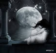 Resultado de imagen para paisajes de noche luna dibujos