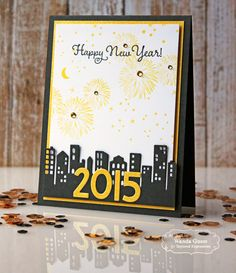 Happy 2015 card by Wanda Guess