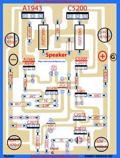transistor circuit diagram of 2sa1943 and 2sc5200 - Electronics Help Care