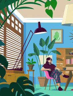 WeTransfer Studios partnered with the Clio Awards to explore how and where creatives work best. Rather than another studio visit feature, we asked five creatives around the world to describe their dream workplace, which illustrator Owen Gatley brought to life…