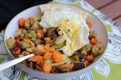 Roasted Vegetable & Mushroom Hash (with Eggs!) by Emily Malone