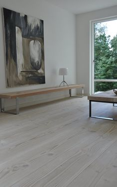 I love the floorboards and the large windows - creating a feeling of being outside while being sheltered inside