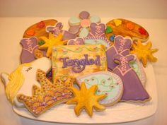 Tangled Party Favor Set  Includes 12 Premium Hand Painted and Decorated Cookies.