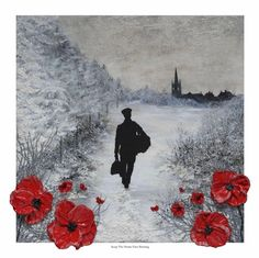 'Keep The Home Fires Burning' - POSH Original Art by Jacqueline Hurley Remembrance Art from The War Poppy Collection Soldier Homecoming Original Artwork, Original Paintings, Royal British Legion, And July, Remembrance Day, Limited Edition Prints, Contemporary Paintings, Hurley, World War Two