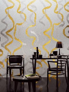 Pattern makers: first look at Studio Job's iconographic mosaics for Bisazza Mosaic Wall, Mosaic Glass, Mosaic Tiles, Doors And Floors, Wallpaper Magazine, Tile Murals, Gold Walls, Gold Art, Decorative Tile