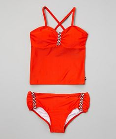 This Red Rope Tankini - Girls by Nautica is perfect! #zulilyfinds