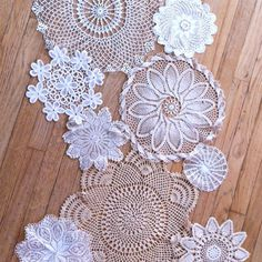vintage doily table runner