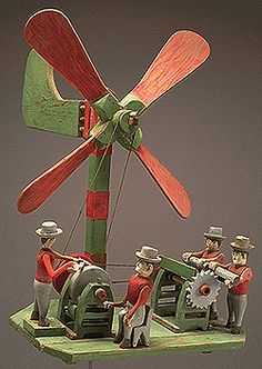 Cutting Up Firewood (whirligig) By Arthur Sauvé, Maxville, Ontario