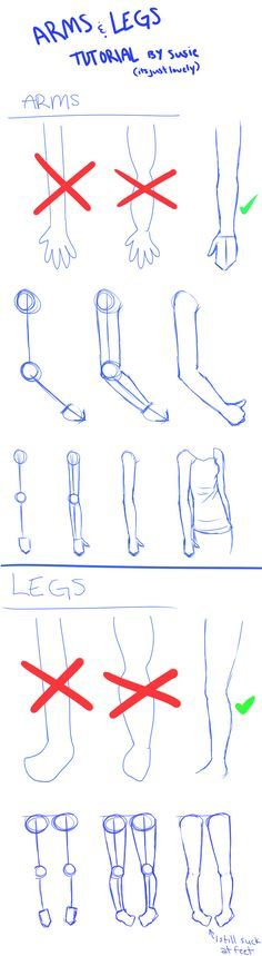 ARMS n' LEGS Tutorial by ItsJustLovely.deviantart.com on @DeviantArt