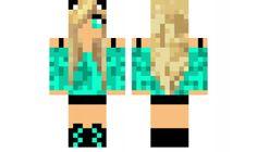 minecraft skin edited-aqua-girl
