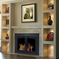 Check out the deal on Pleasant Hearth - Fieldcrest Glass Firescreen Midnight Black at GHP Group Inc.