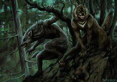 werewolves on the prowl by akreon.deviantart.com on @DeviantArt