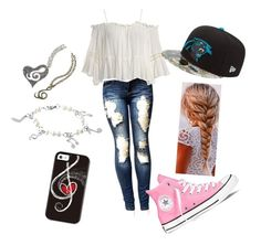 """#68"" by rose-s-b on Polyvore featuring Sans Souci, Converse and West Coast Jewelry"