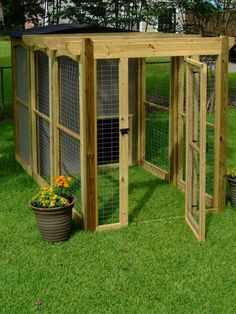 Build Your Own Dog Run   How to Build a Dog Run With Attached Doghouse : How-To : DIY Network