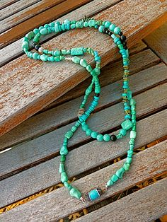 Southwestern Turquoise Statement Necklace, turquoise necklace Christmas gift for mom long necklace southwestern necklace, boho necklace - pinned by pin4etsy.com