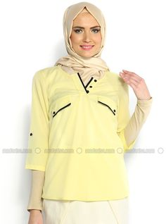 Ornement Blouse Button - Jaune - Afili