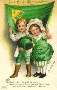 Free Vintage St. Patricks Day Greeting Cards: Cute Kids...Fantastic site for clip art and greeting cards...holidays, birthdays and more!