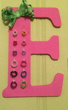 The best pony tail holder organizer. No more losing them or laying them around!