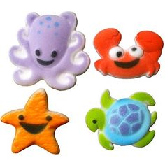 SEA BUDDIES CAKE DECORATIONS from Pastry Chef Central