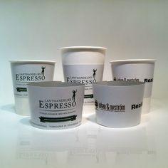 Printed Coffee Cups - Product Photo Gallery - UK Manufactured Printed Paper Cups at unbeatable prices Printed Coffee Cups, Paper Cups, Photo Galleries, Mugs, Gallery, Tableware, Prints, Dinnerware, Roof Rack