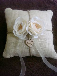 You pick the flower Personalized ring bearer by happiestcreations, $29.99