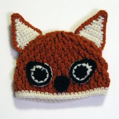 Foxy Beanie CROCHET PATTERN by Bowtykes on Etsy, $4.99