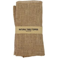 60-inch Square Burlap Table Topper: Natural