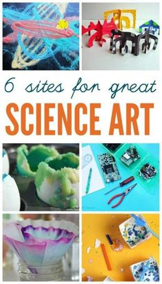 Science art projects for kids. Great for STEAM education.