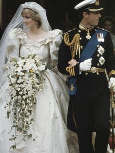 Never-Before-Seen Wedding Photos of Princess Diana Surface via @WhoWhatWear