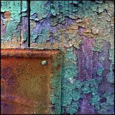 Dyed bark, tie dye